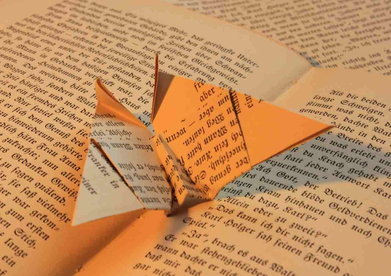 book origami paper free photo