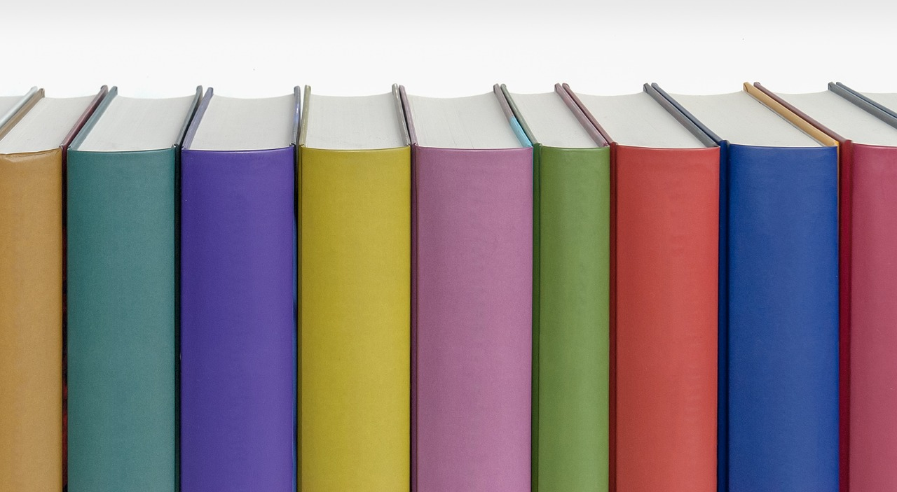 books spine colors free photo