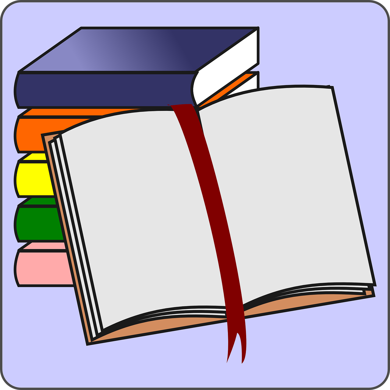 books,open book,bookmarker,pages,bookmark,stack of books,pile of books,school books,library books,free vector graphics,free pictures, free photos, free images, royalty free, free illustrations, public domain