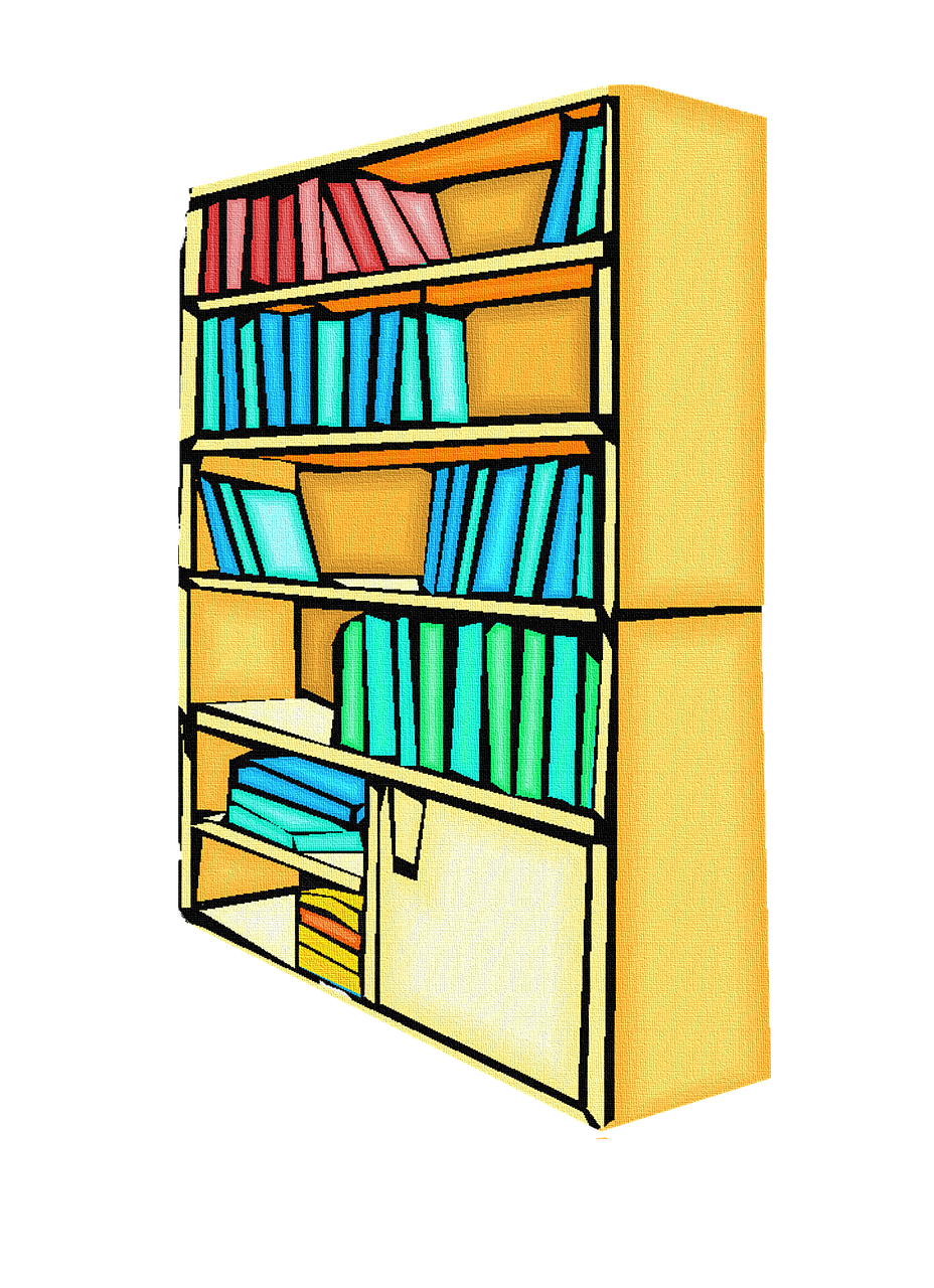 books bookcase library free photo