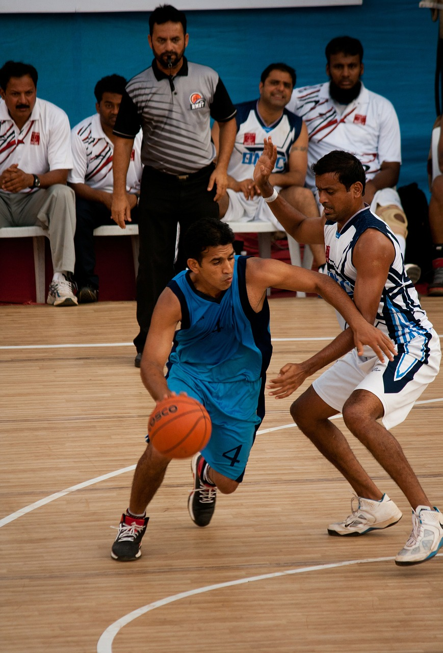 bouncing basketball action players free picture