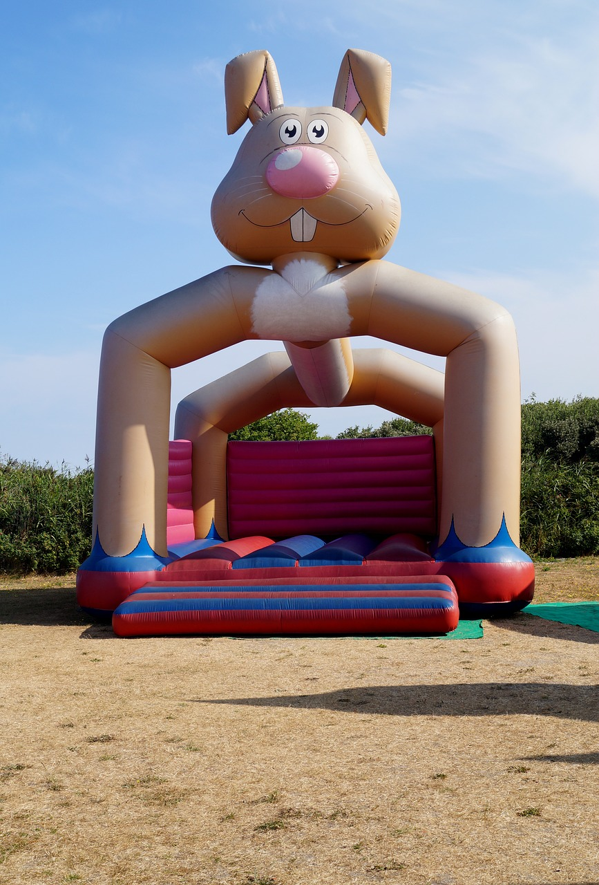 bouncy castle  game device  playground free photo