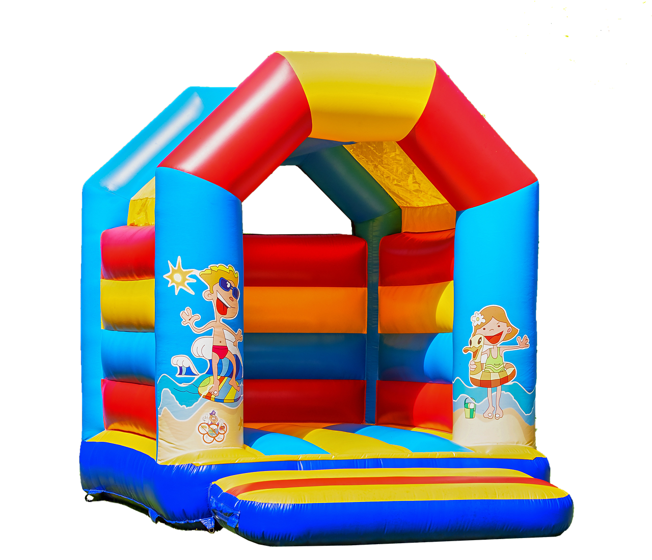 bouncy castle  isolated  children toys free photo