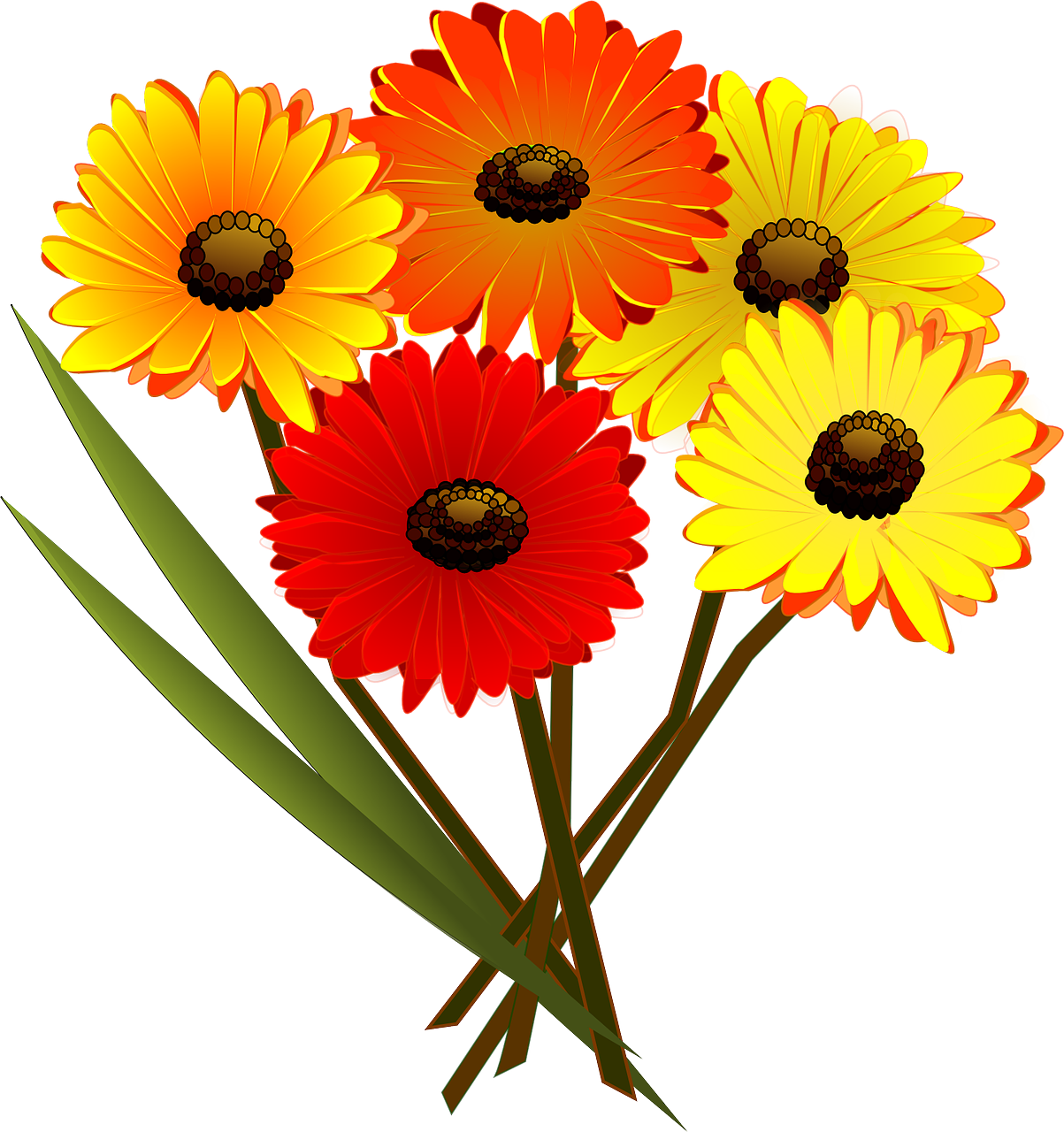 Bouquetbouquet Of Flowersflowersblossomred Free Photo From