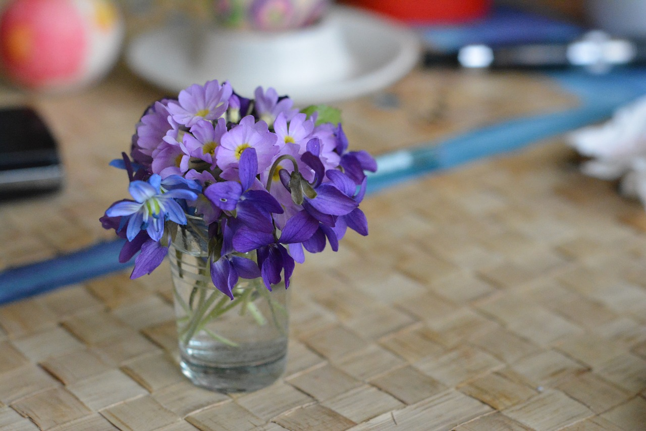 bouquet decoration violet free photo