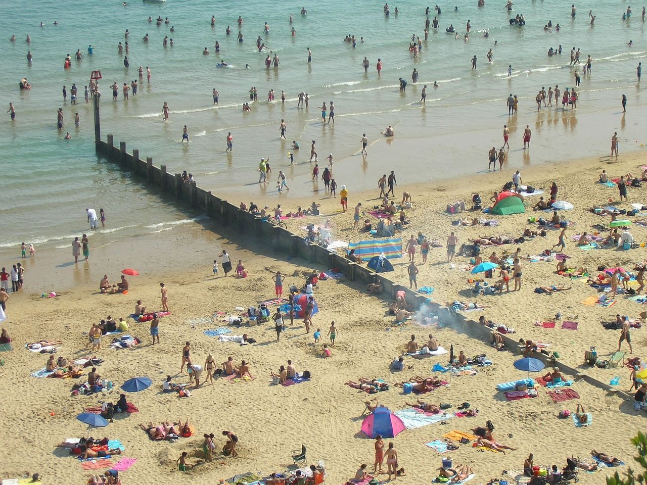 Download free photo of Bournemouth,beach,tourists,summer,dorset ...