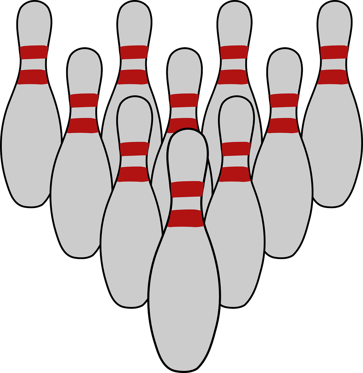bowling tenpins pins free picture