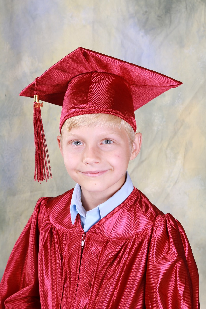 boy graduation kindergarten free photo