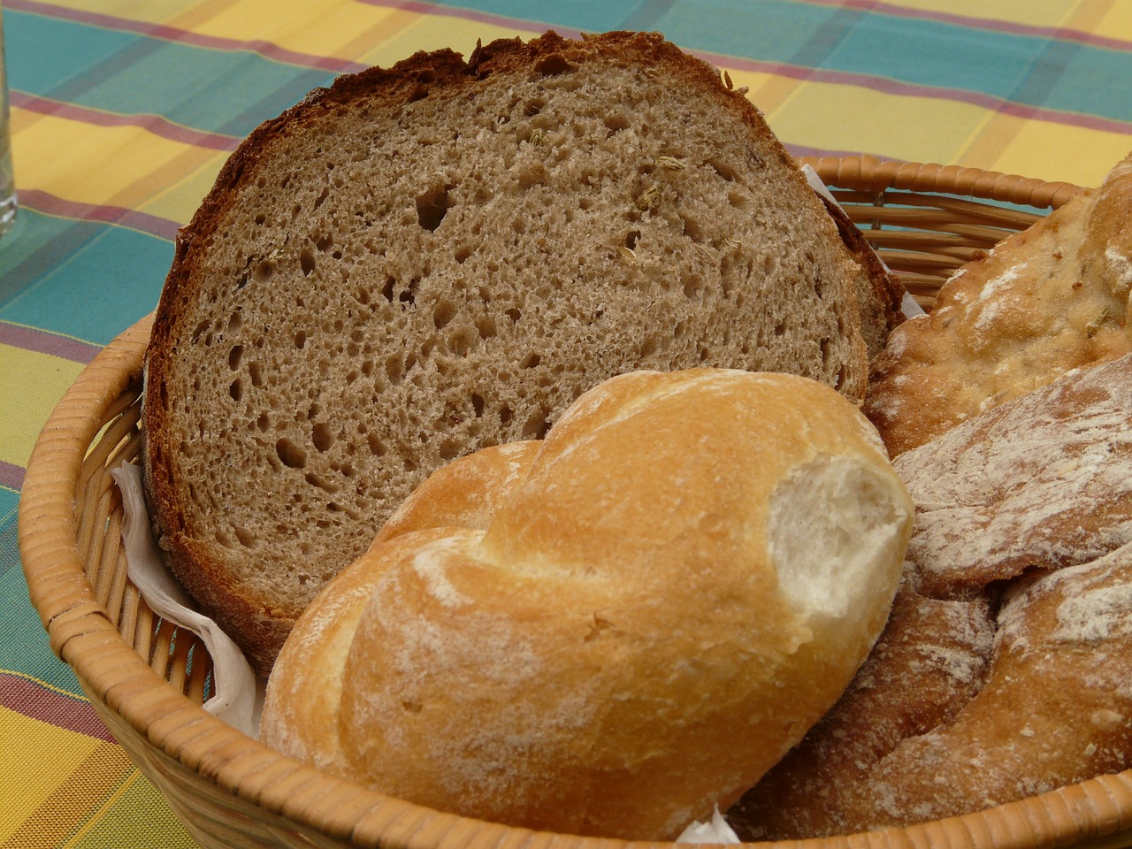 bread breadbasket breakfast free photo