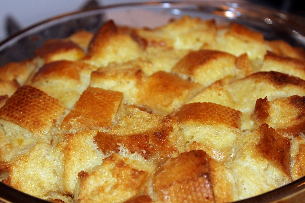 bread pudding food dessert free photo