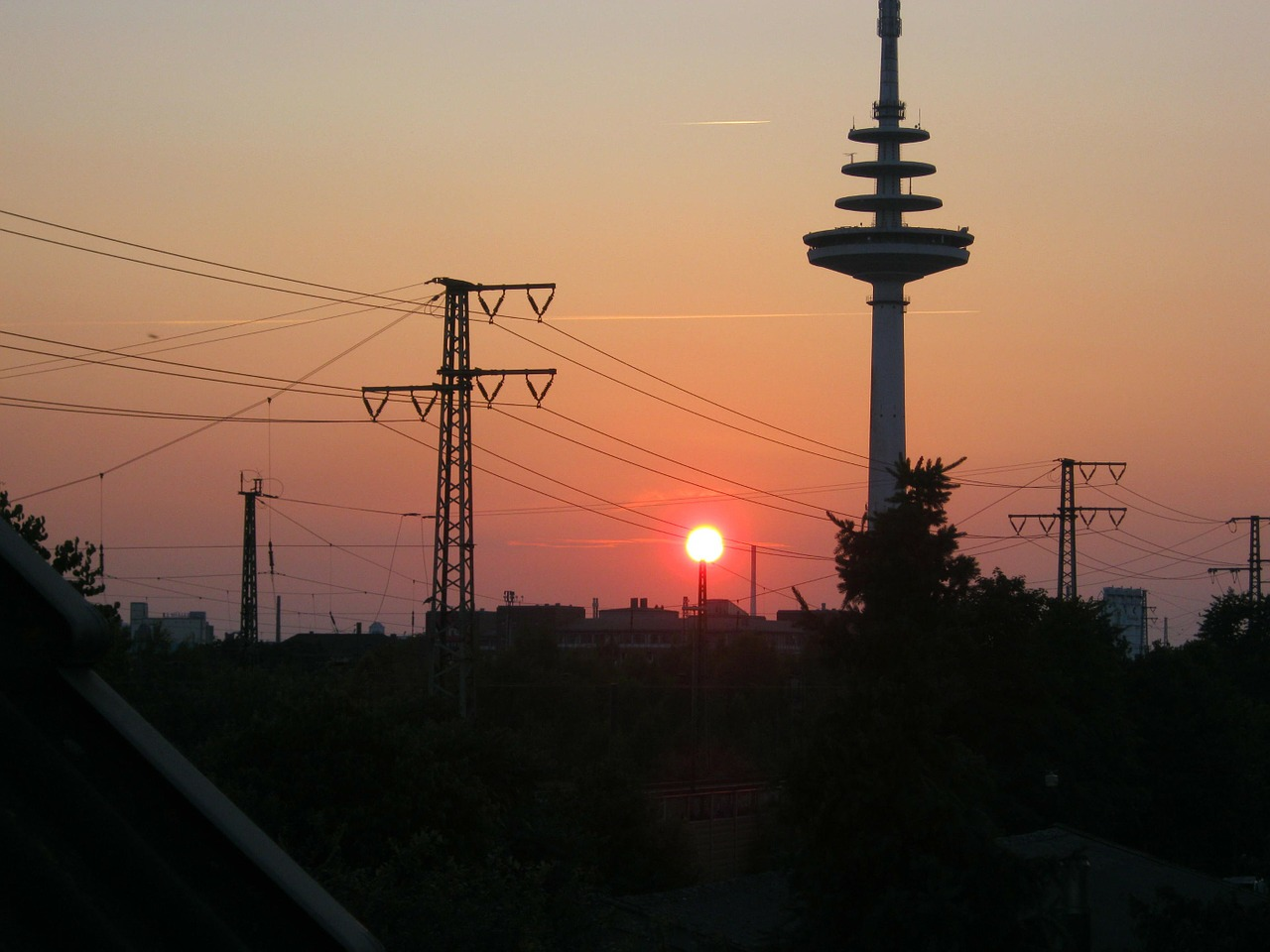 bremen sunset afterglow free photo