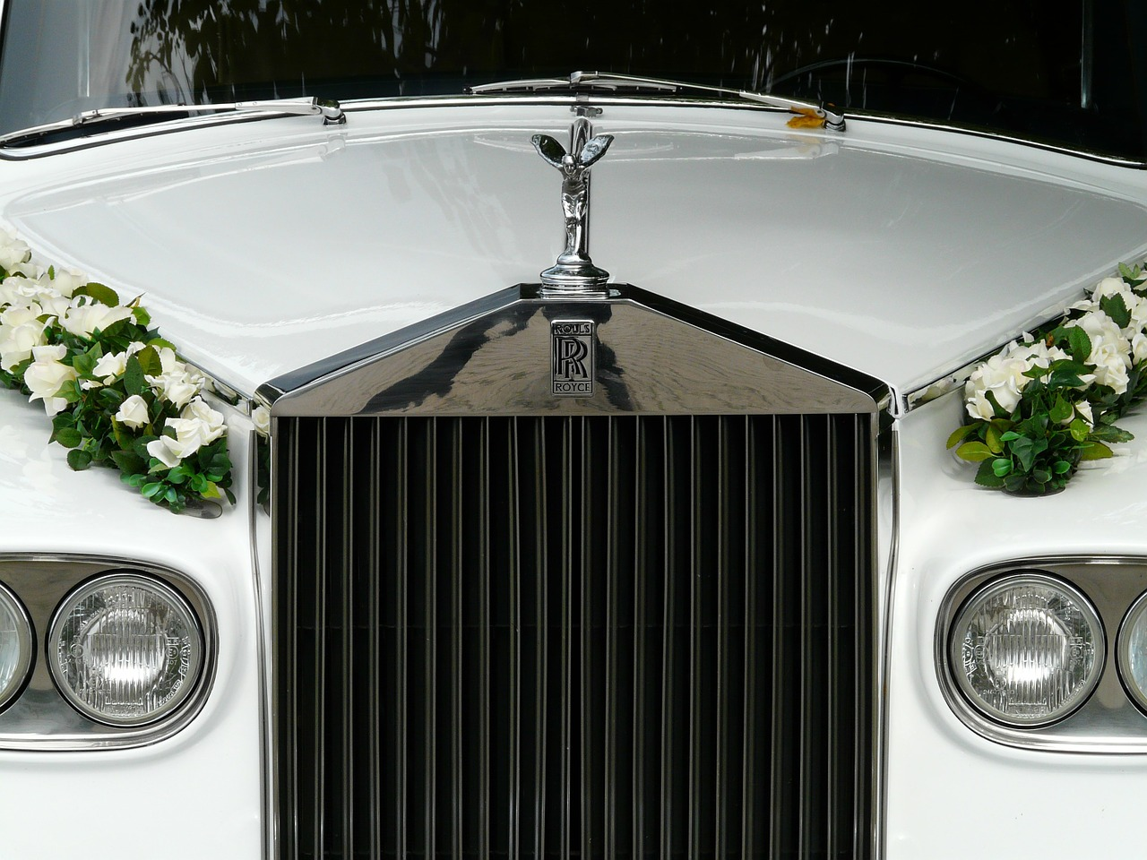 bridal car marriage wedding free photo
