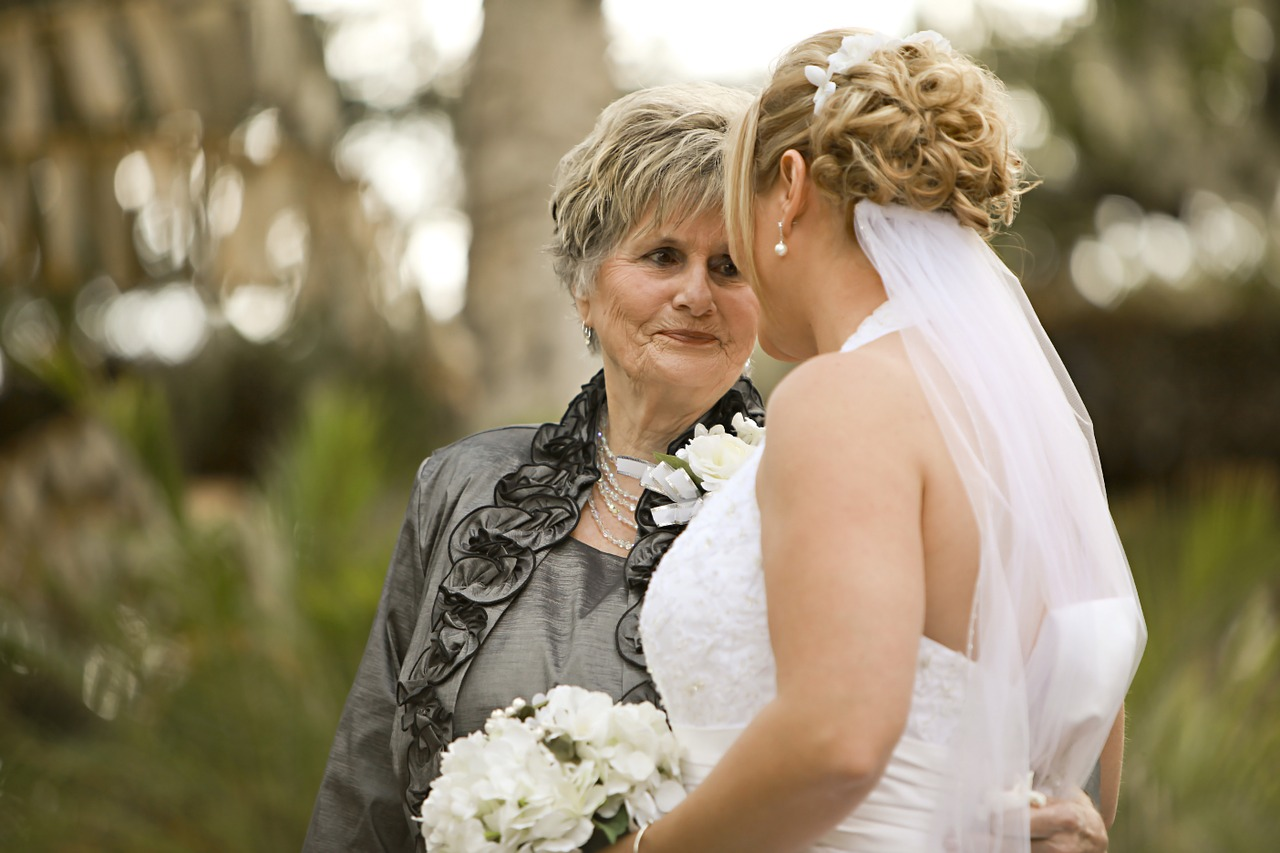 bride,grandmother,grandma,family,celebration,wedding,people,portrait,woman,happy,senior,women,free pictures, free photos, free images, royalty free, free illustrations, public domain