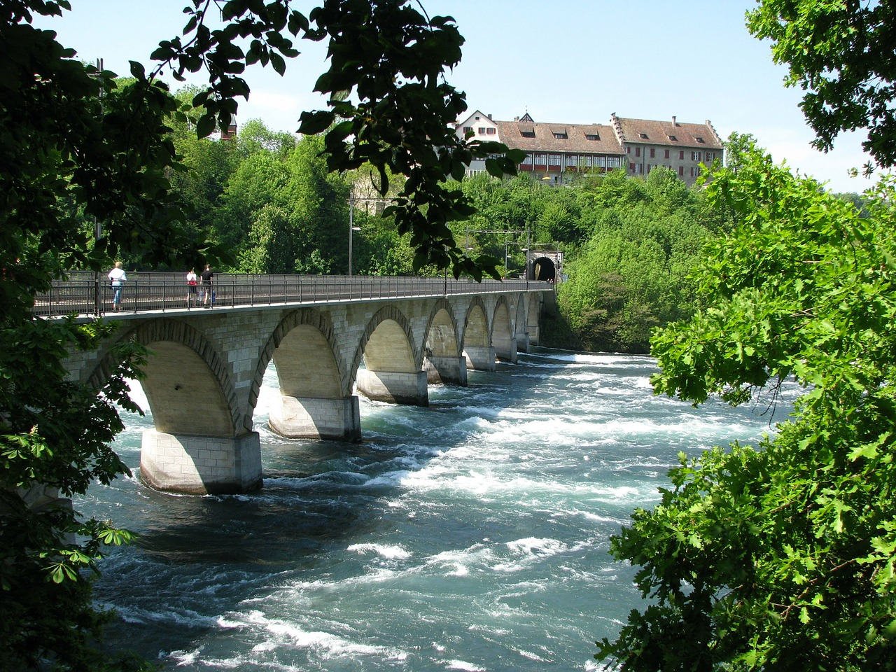 bridge rhine falls schaffhausen free photo