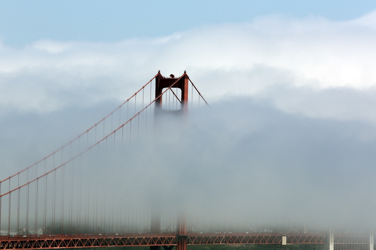 bridge golden gate fog free photo