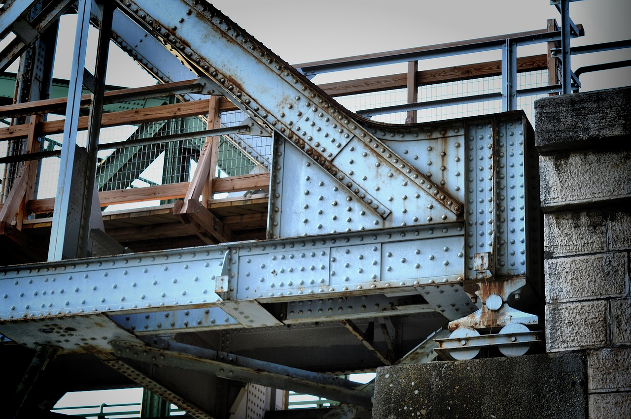 bridge steel rivet free photo