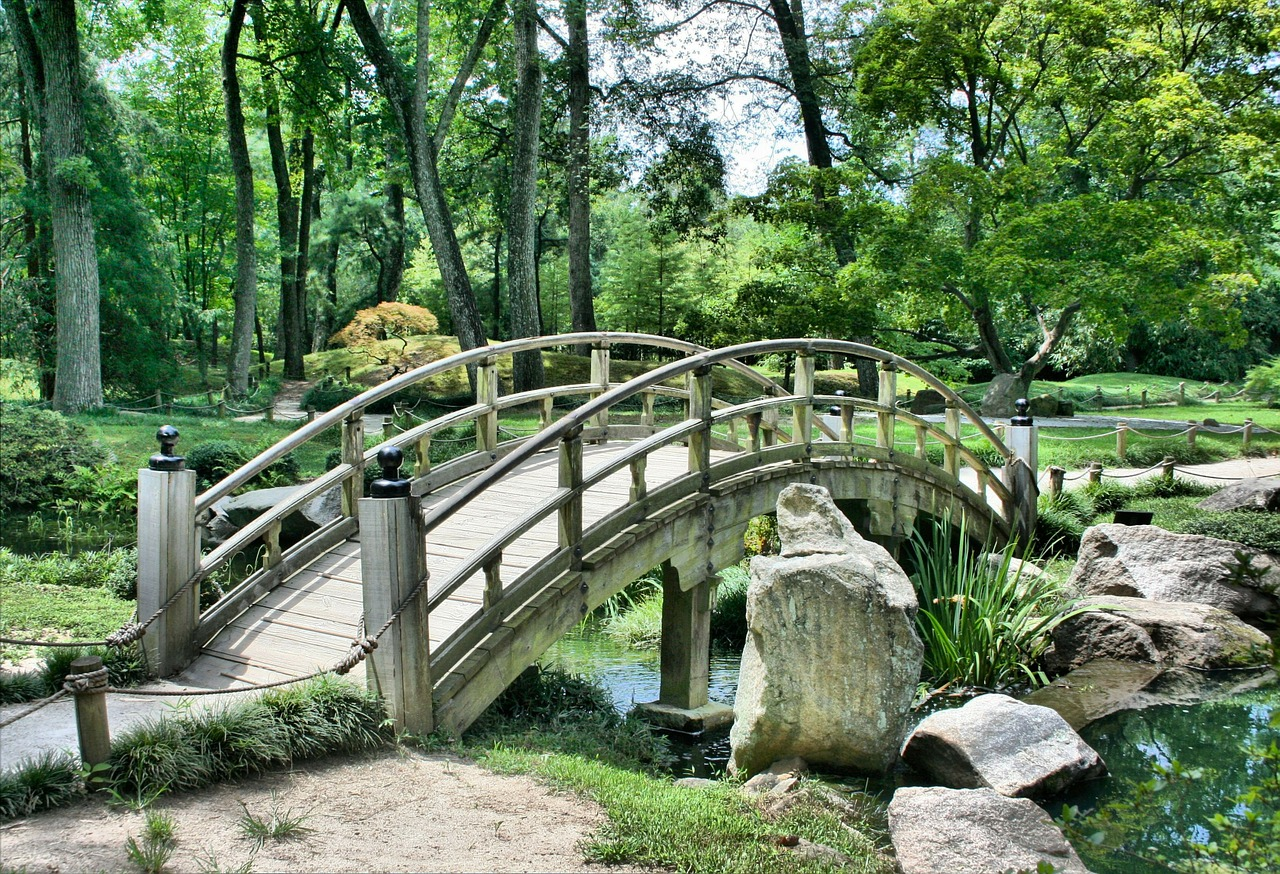 bridge,japanese garden,arch,park,gardening,green,peaceful,architecture,tranquil,oriental,lake,path,maple,tradition,trees,calm,serene,meditation,foliage,botanical,relax,landscaping,free pictures, free photos, free images, royalty free, free illustrations, public domain