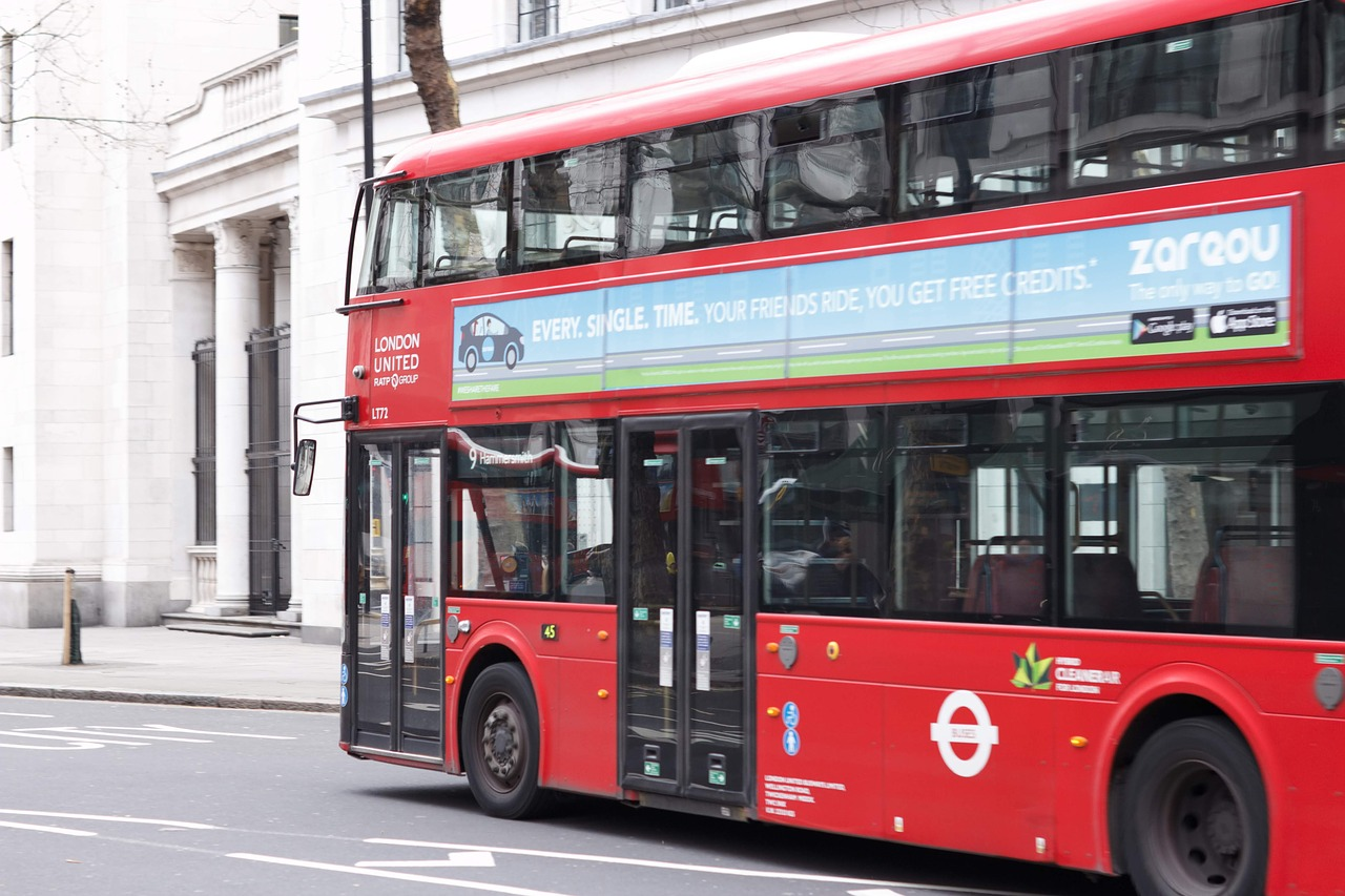 british bus  red bus  double decker bus free photo