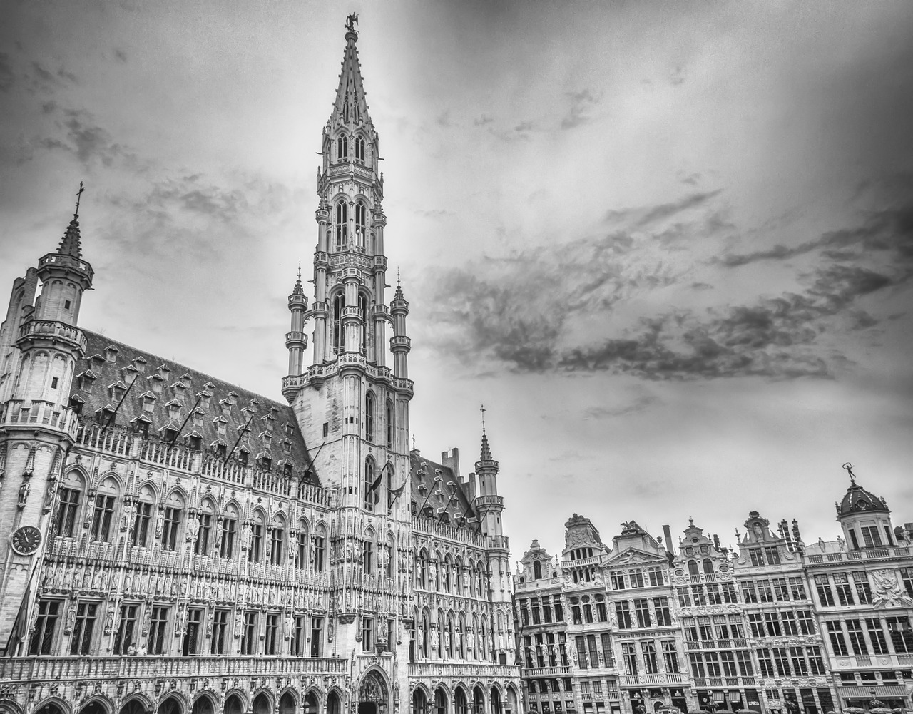 brussels brussels town hall grote markt free photo