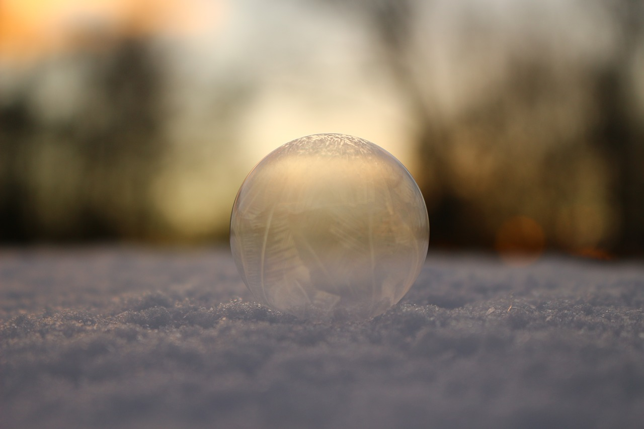 bubble snow soap bubble free photo