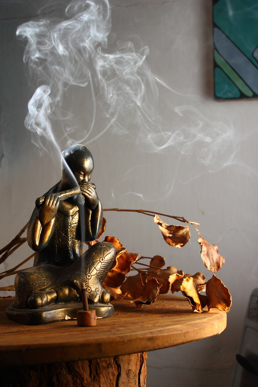 buddha statue incense free photo
