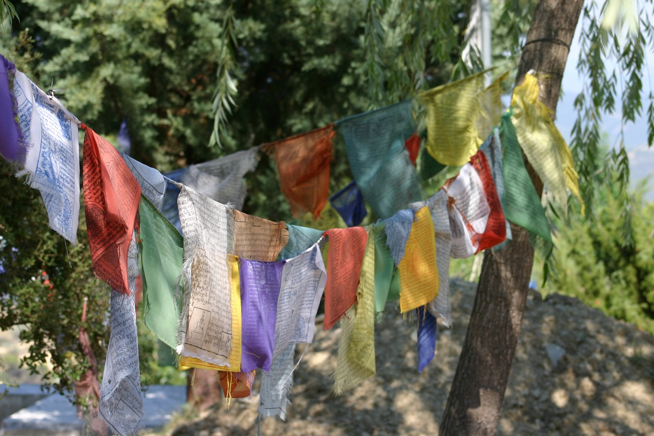 buddhism,prayer flags,tibetan,colors,fabrics,textiles,design,text,writings,free pictures, free photos, free images, royalty free, free illustrations, public domain