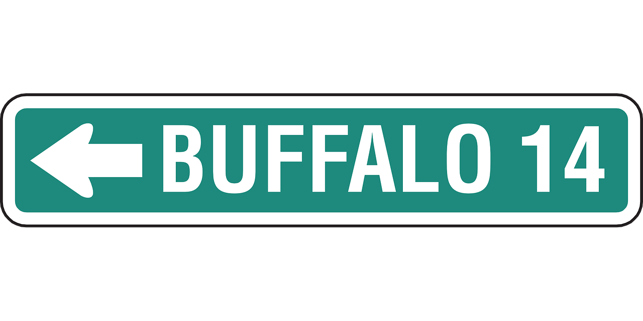 buffalo ahead 14 miles free photo