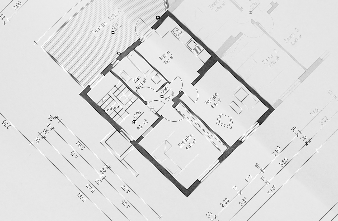 building plan floor plan architectural free photo