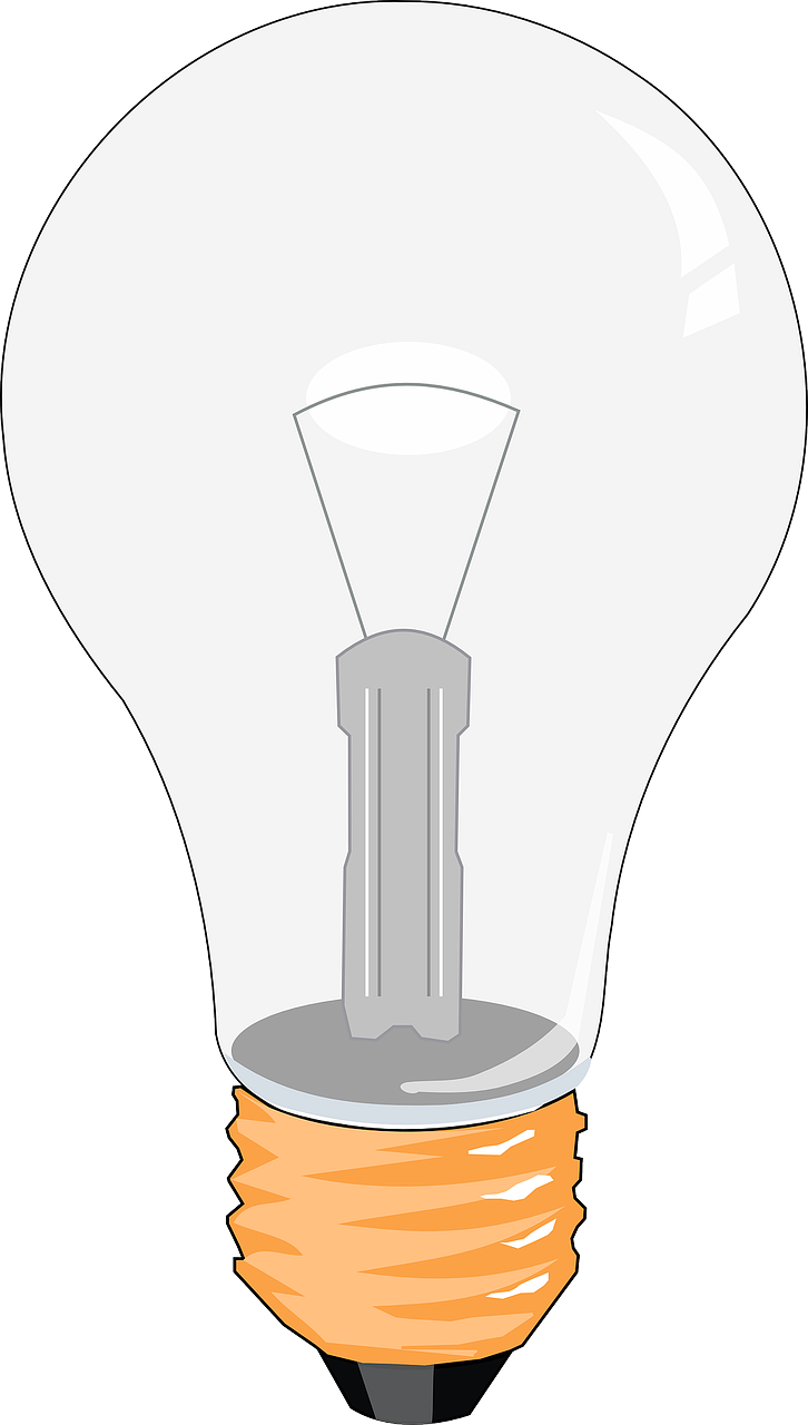 bulb,lamp,electricity,light,invention,lightbulb,power,bright,incandescent,filament,coiled coil,tungsten,free vector graphics,free pictures, free photos, free images, royalty free, free illustrations, public domain