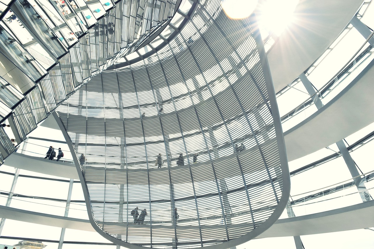 bundestag dome people free photo