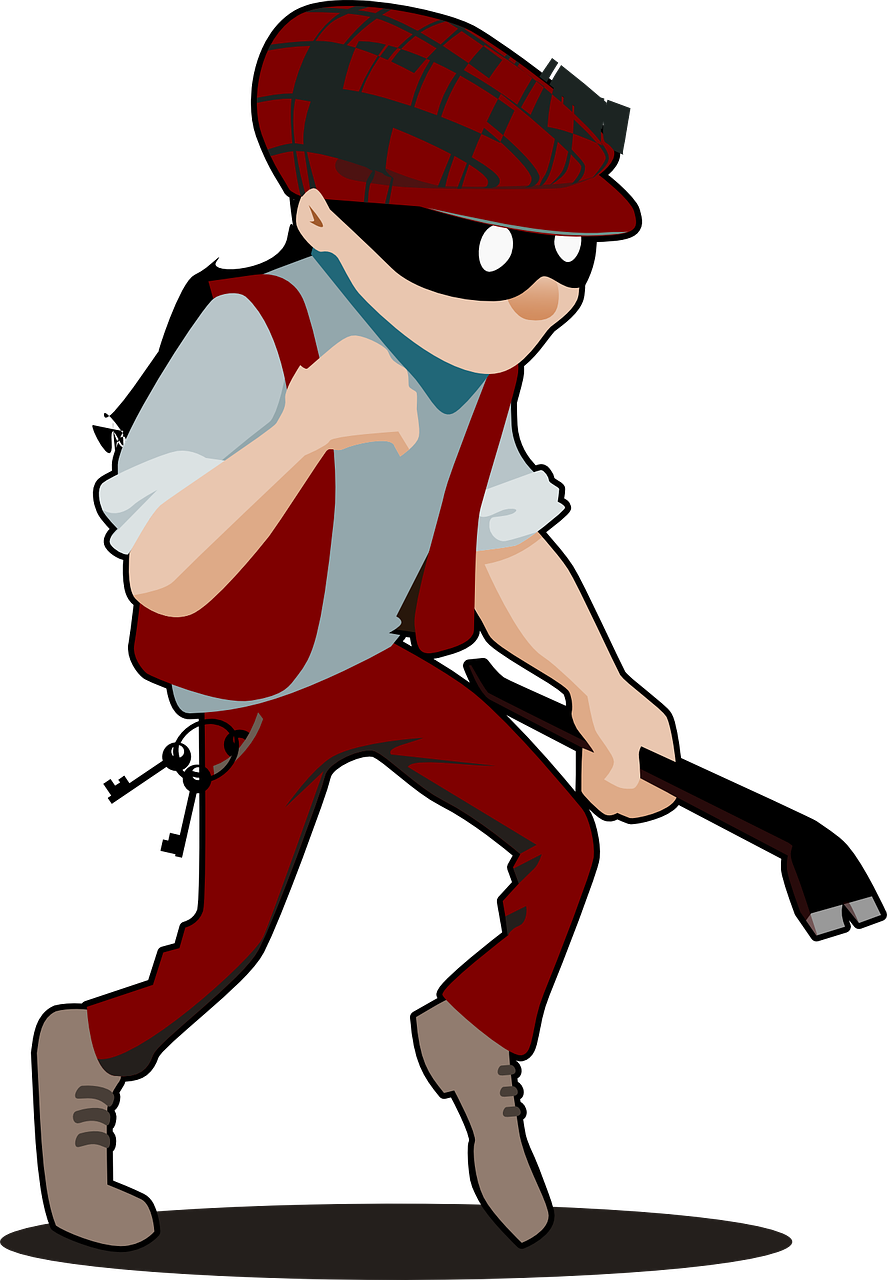 burglar,thief,criminal,crime,man,theft,stealing,robber,burglary,mask,male,person,danger,robbery,gangster,crowbar,bandit,weapon,mugger,steal,illegal,evil,dangerous,unlawful,villain,threat,outlaw,disguise,aggression,mobster,murder,free vector graphics,free pictures, free photos, free images, royalty free, free illustrations