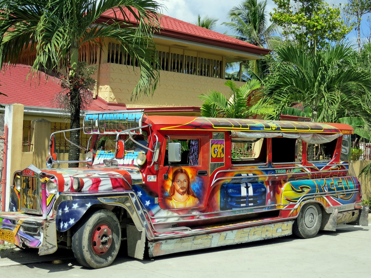 bus jeepney colorful free photo