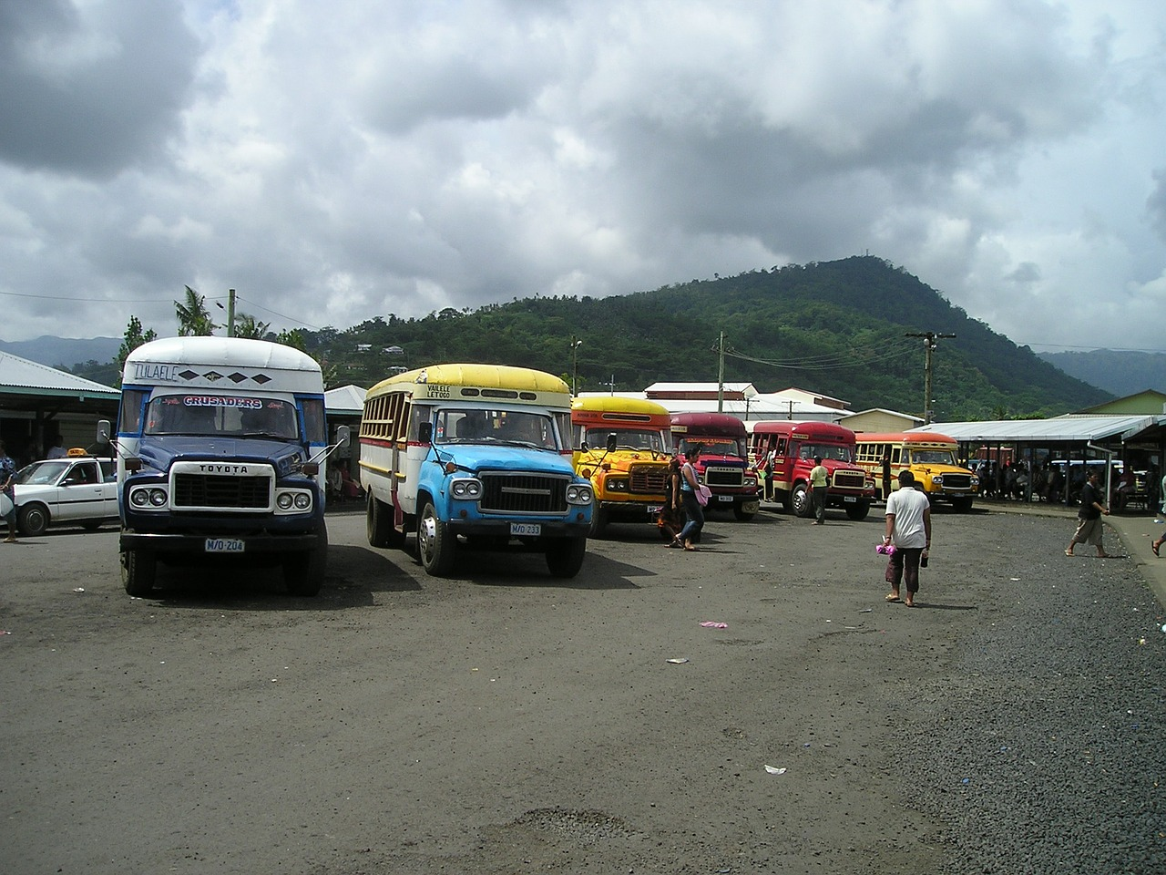 buses samoa exotic free picture