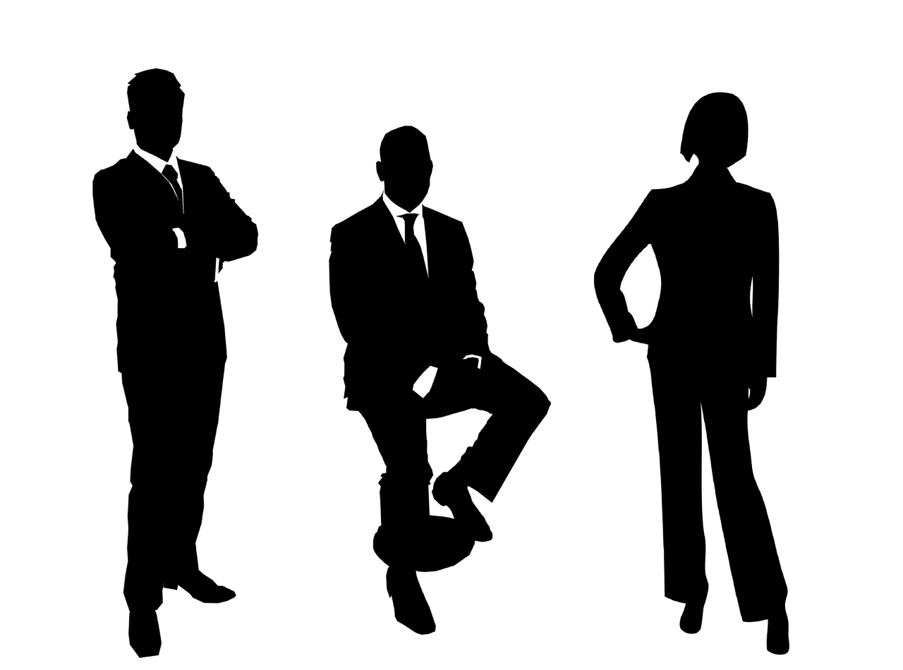 businessmen group silhouette free photo
