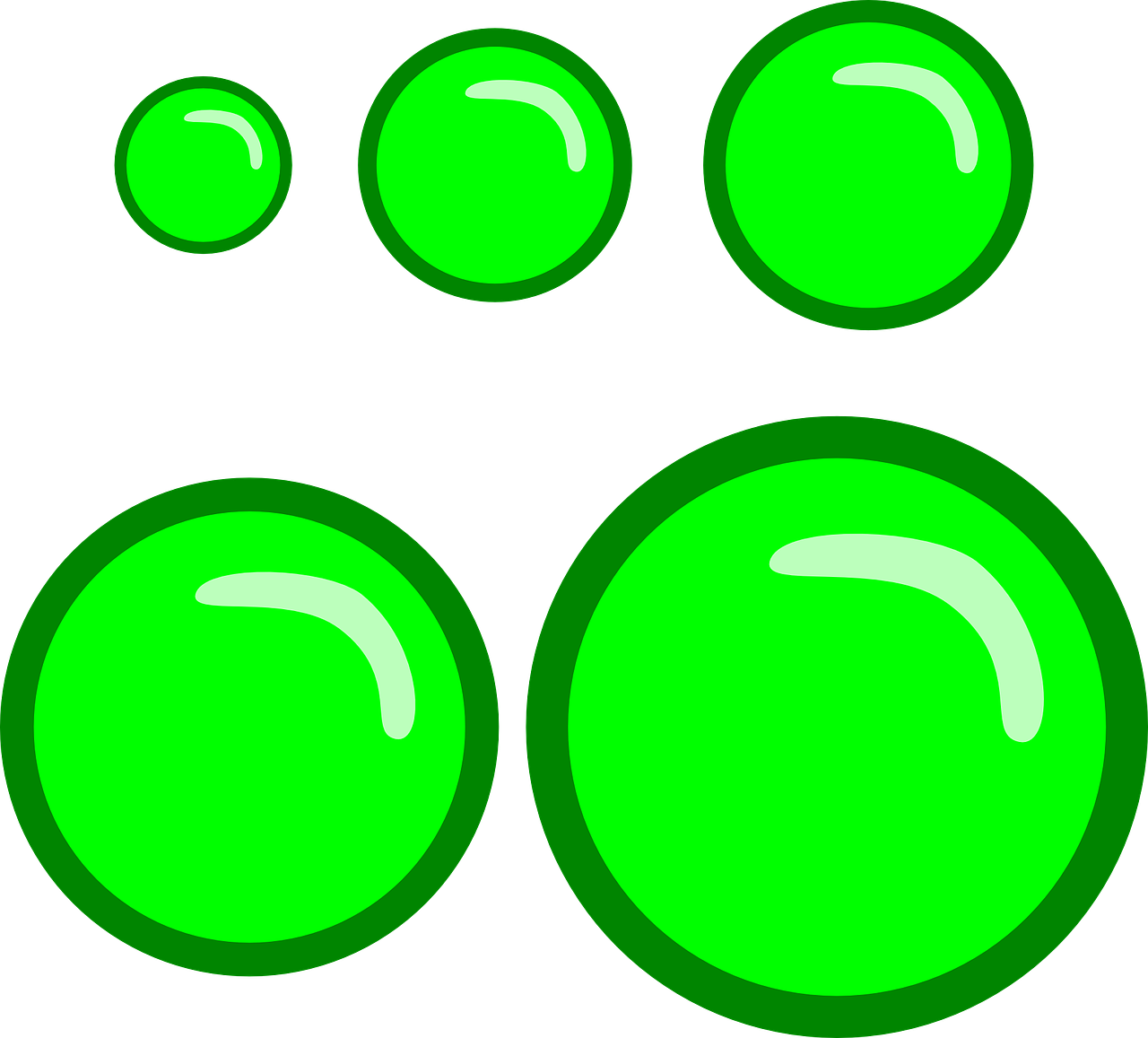 buttons green circle free photo
