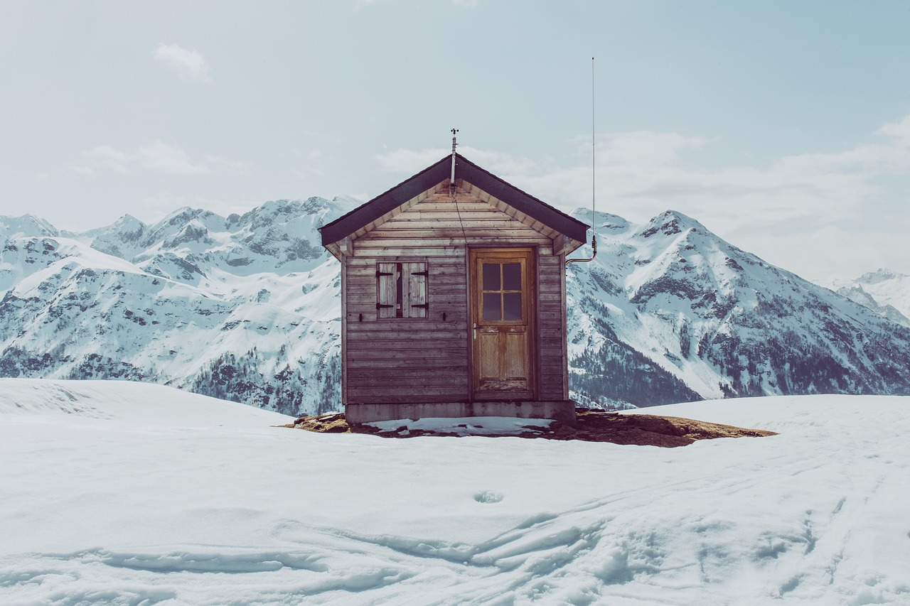 Cabin Mountain Snow Winter Free Pictures Free Image From Needpix Com