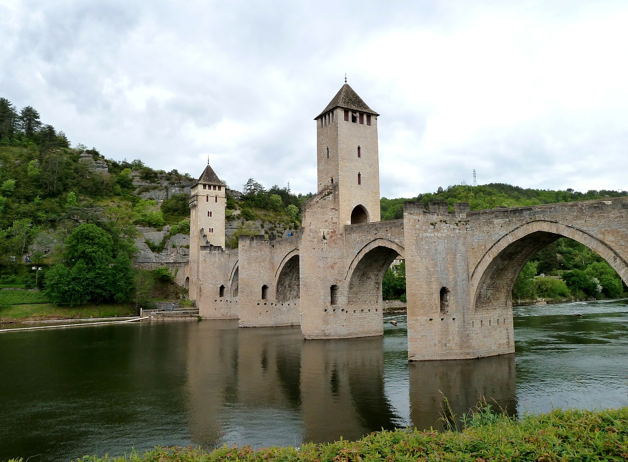 cahors france bridge free photo