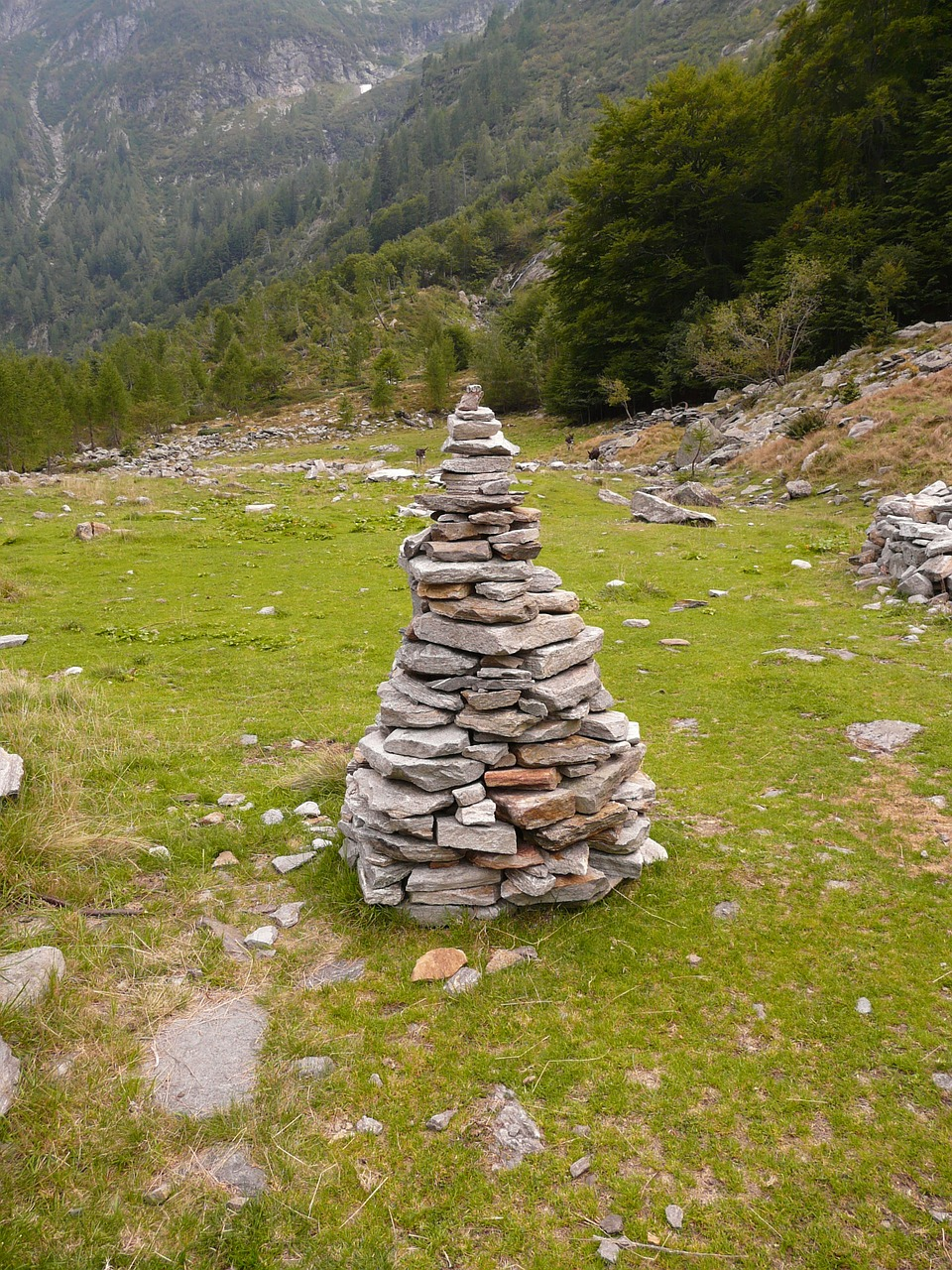 cairn stone tower stone free photo
