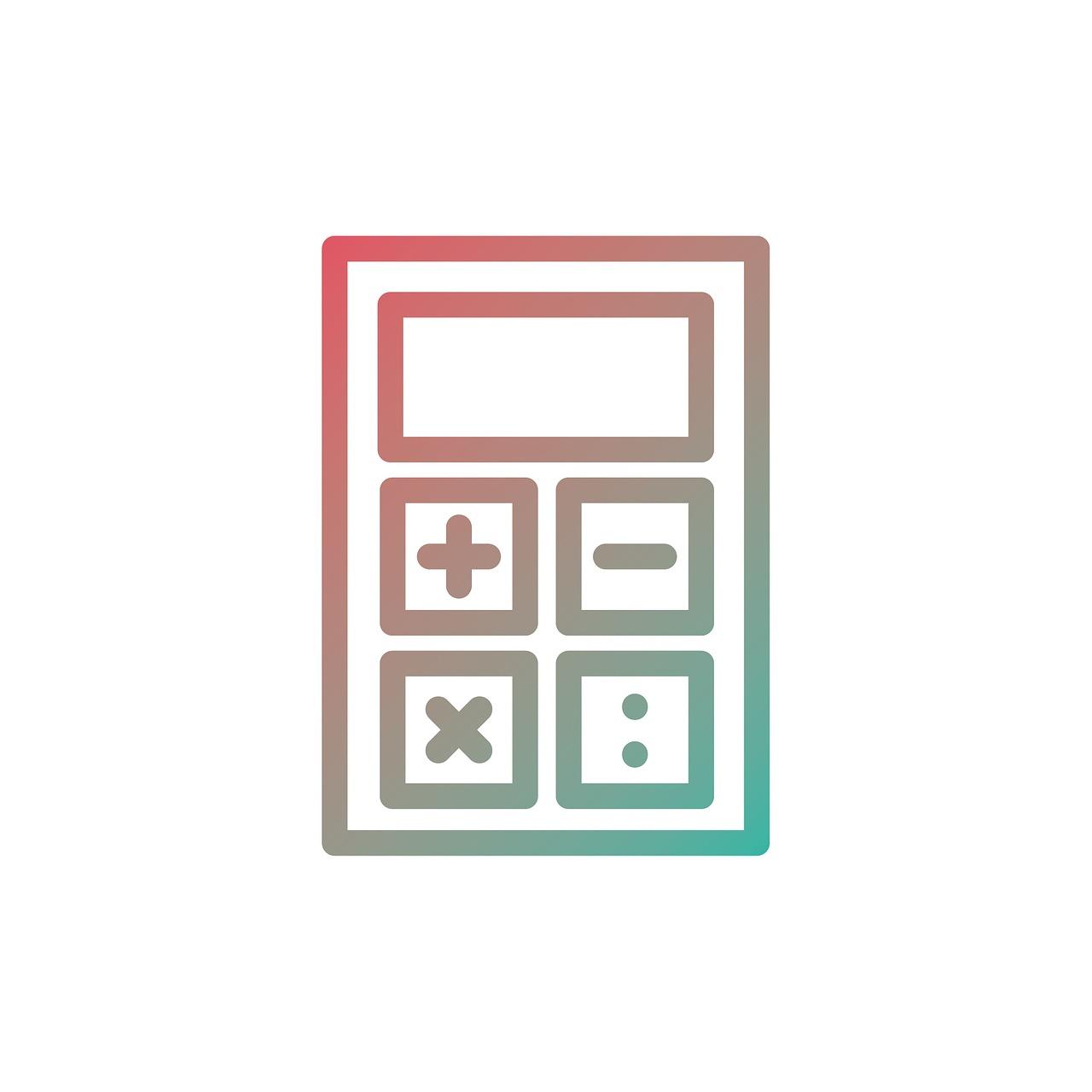 Calculator Icon Business Finance Symbol Design Sign Set