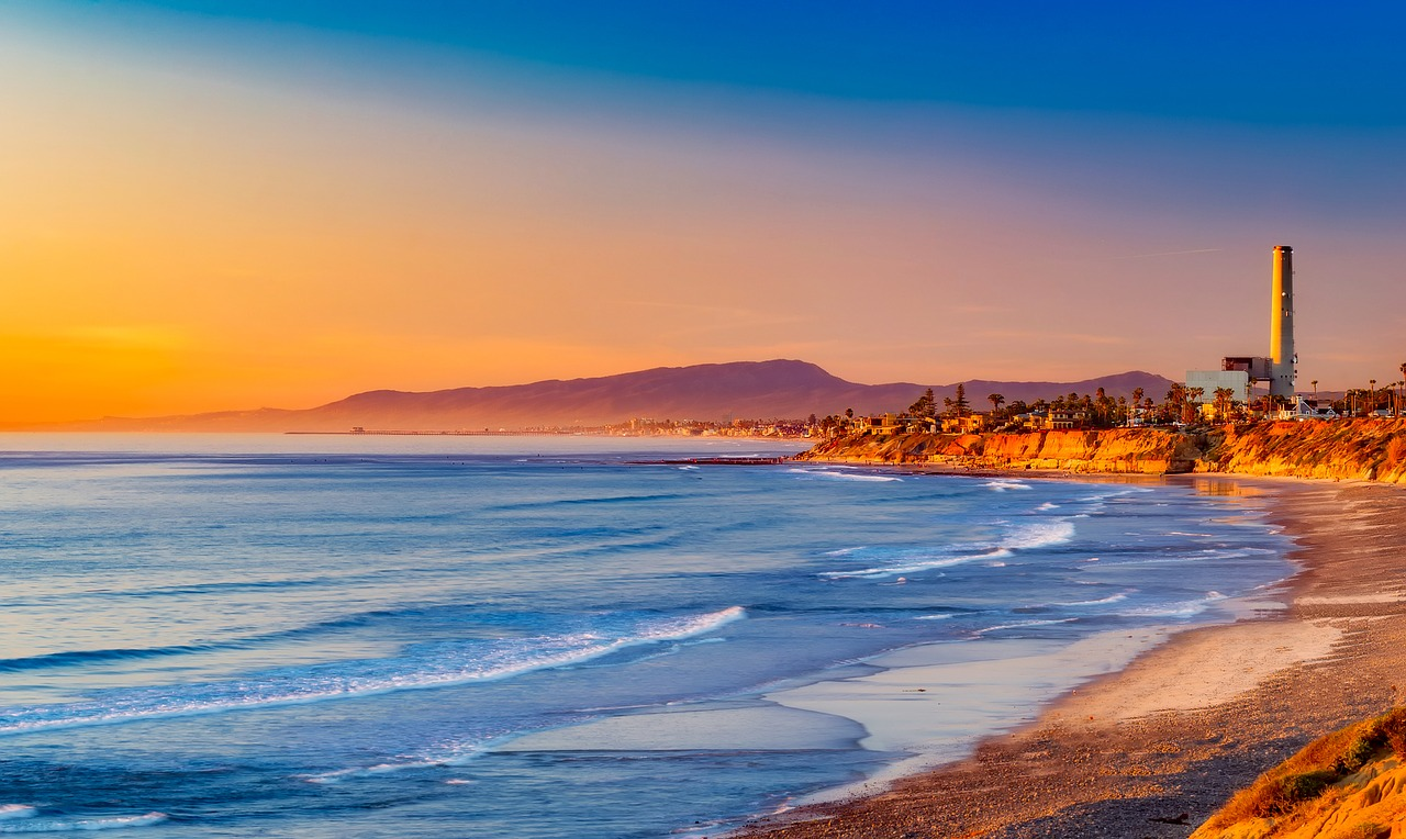 california sunset evening free photo