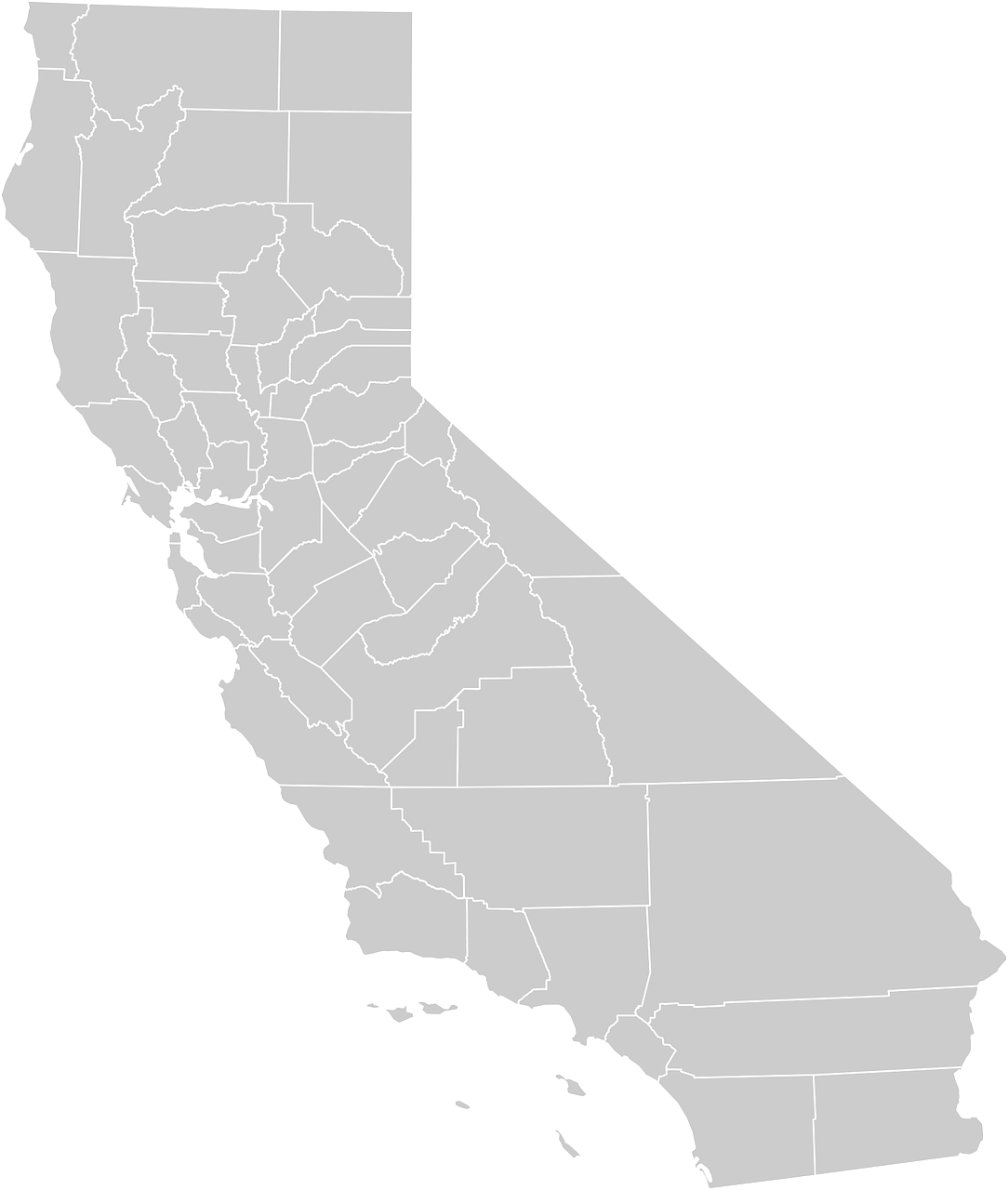 california map geography free photo