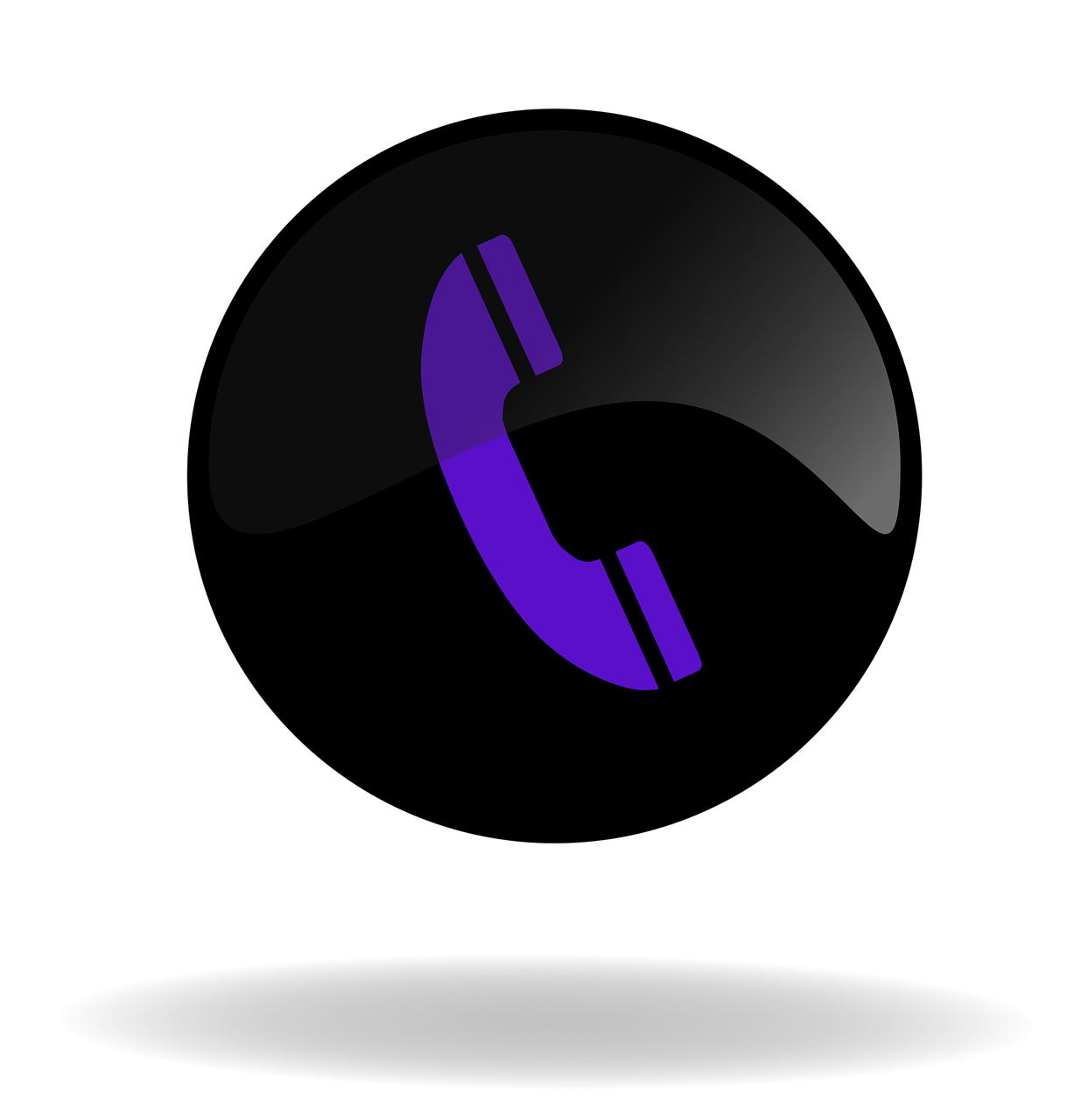 call call button black and purple button free photo