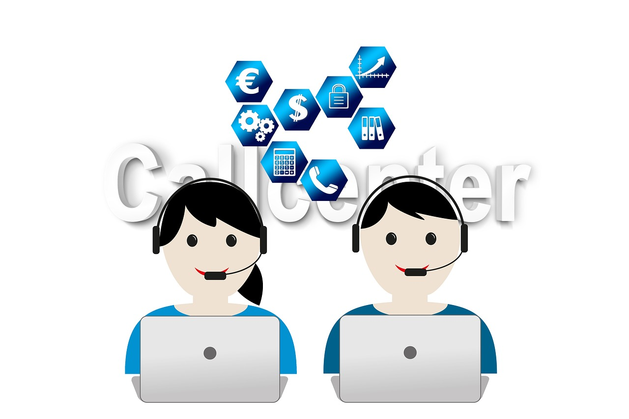 call center headset service free photo