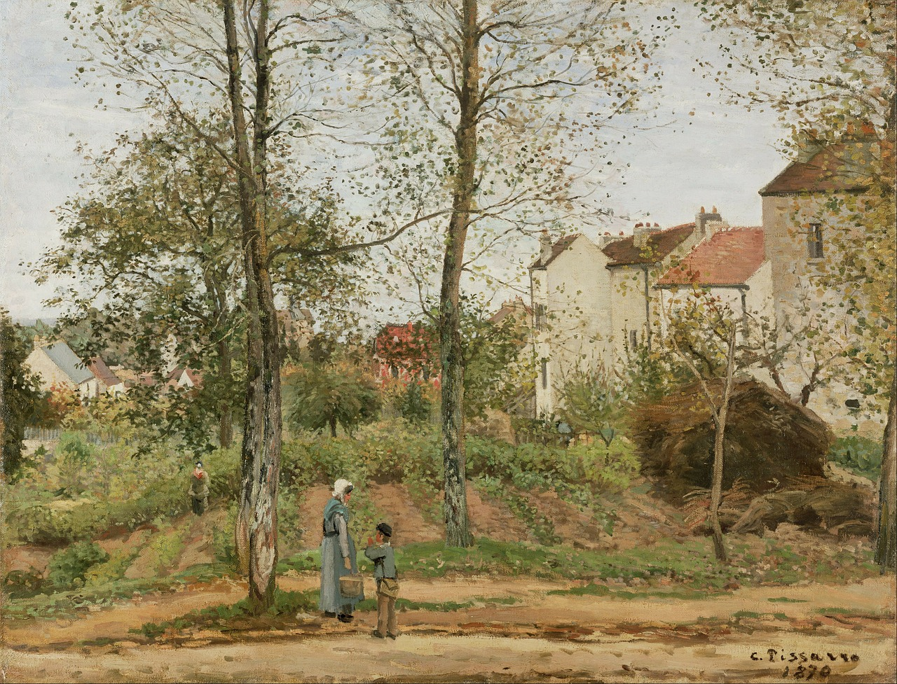 camille pissaro painting oil on canvas free photo