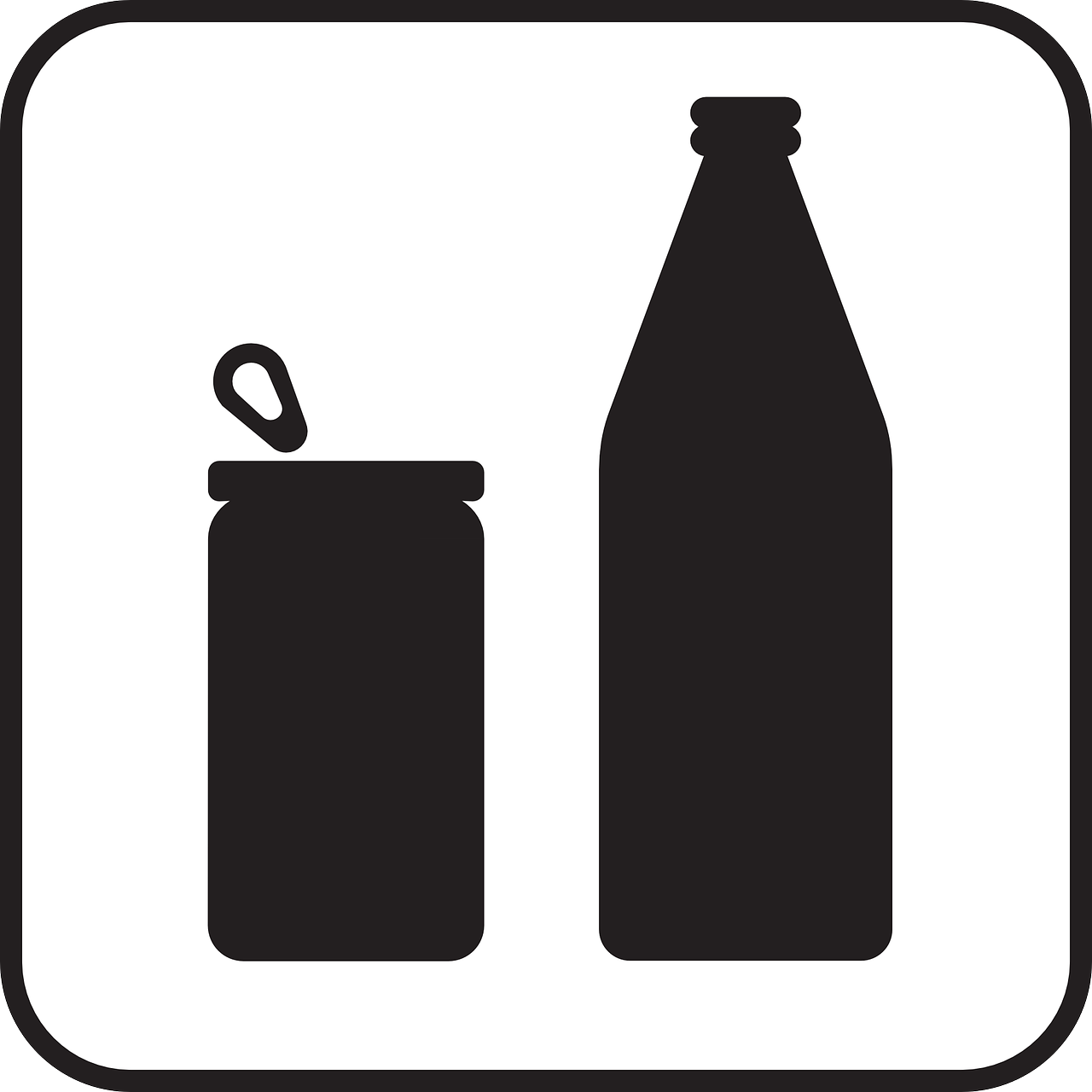 can,tin,bottle,drinking,beverages,waste,recycling,sign,symbol,icon,free vector graphics,free pictures, free photos, free images, royalty free, free illustrations, public domain