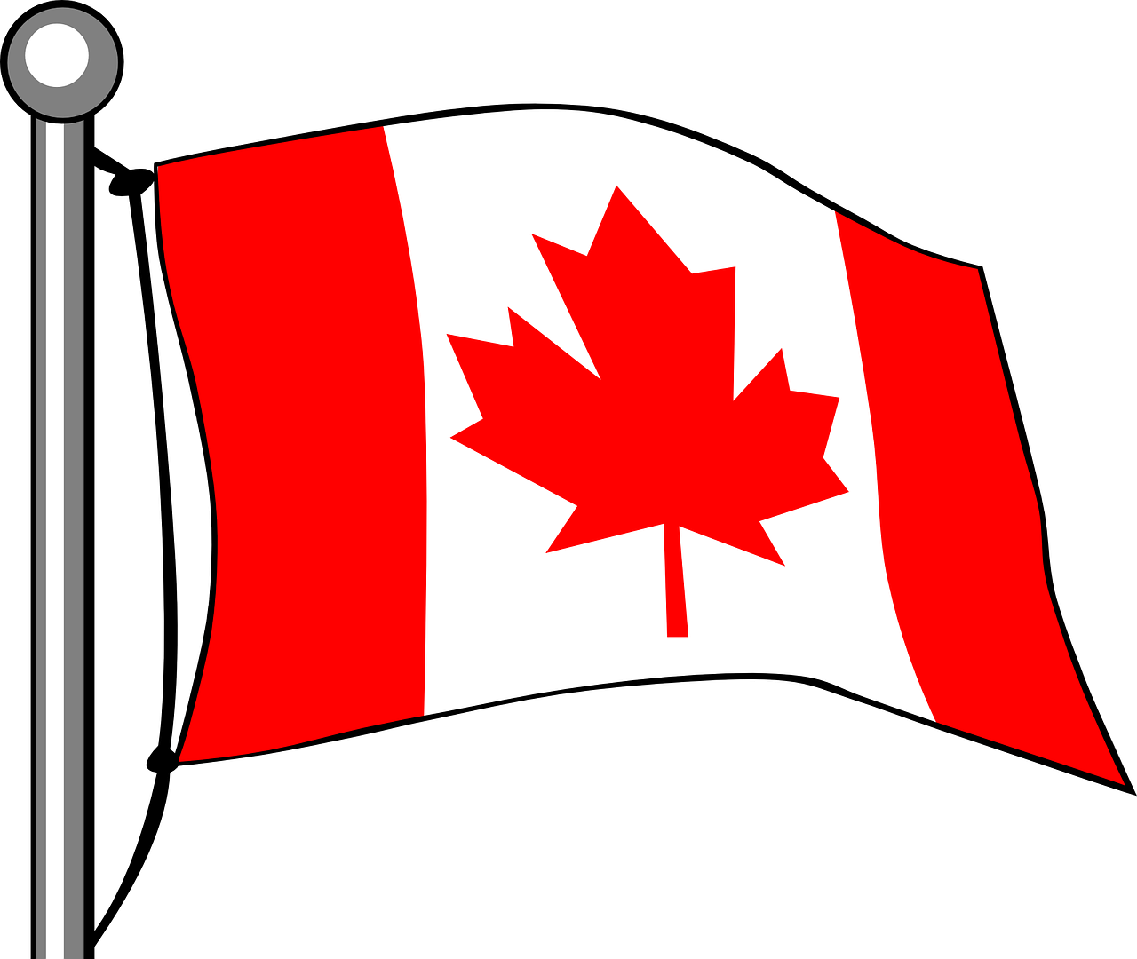 canada,flag,maple,leaf,flying,canadian,pole,nation,patriotism,design,colour,flagpole,free vector graphics,free pictures, free photos, free images, royalty free, free illustrations, public domain