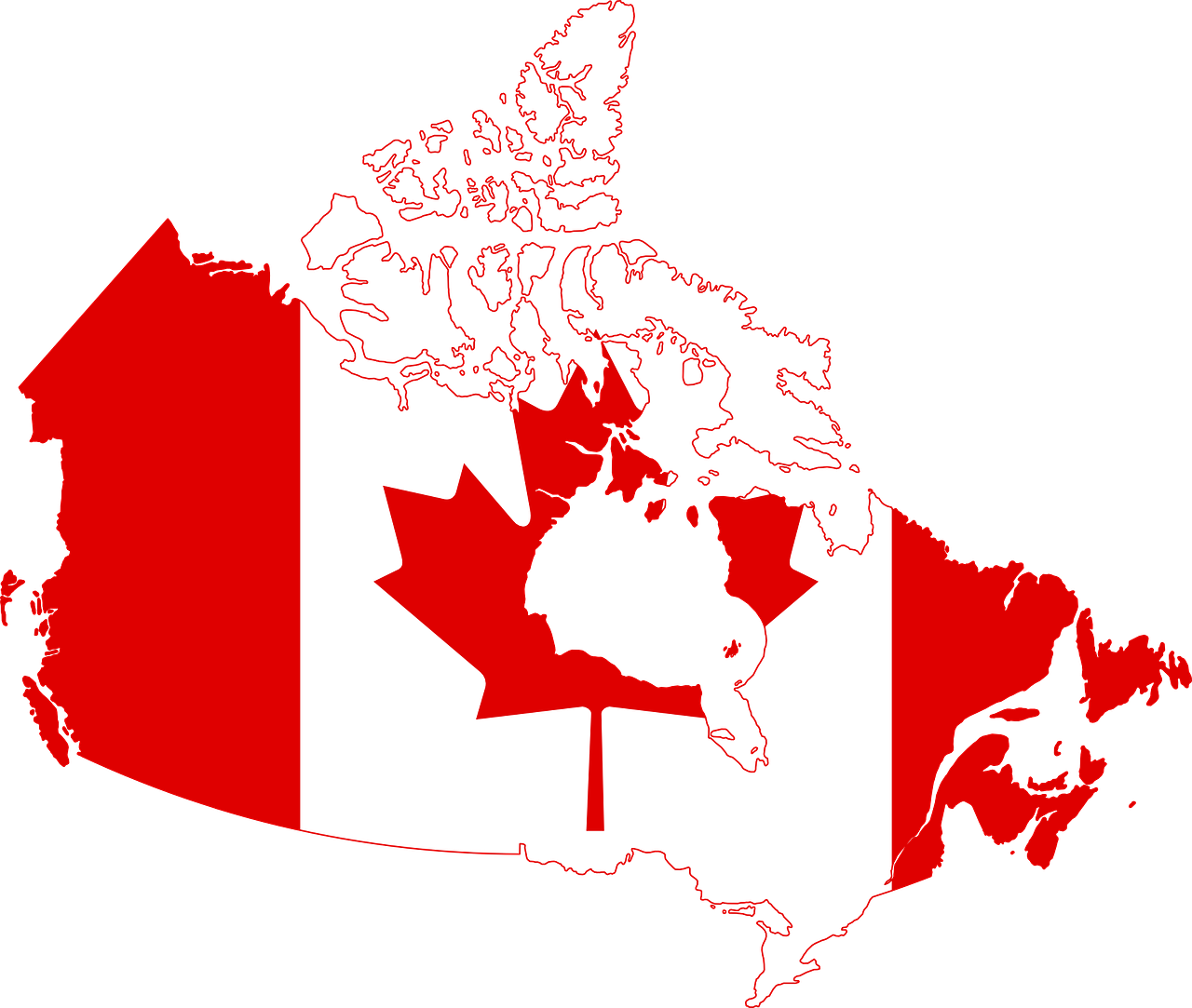 Canada,flag,map,country,nationality - free image from needpix.com