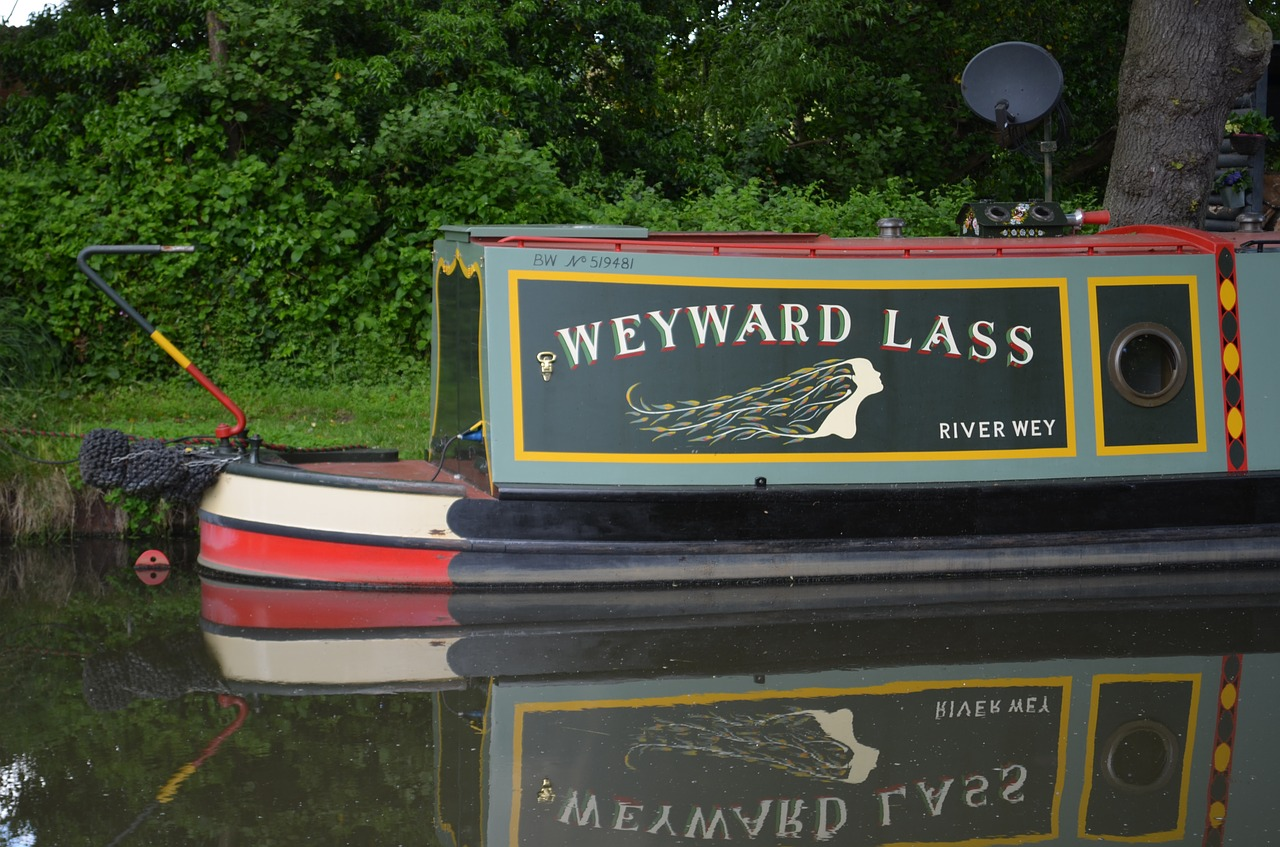 Canal barge,narrow boat,narrow,boat,canal - free photo from