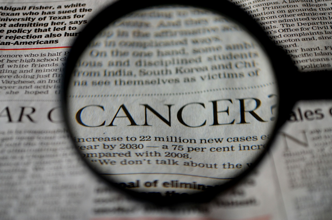 cancer newspaper word free photo