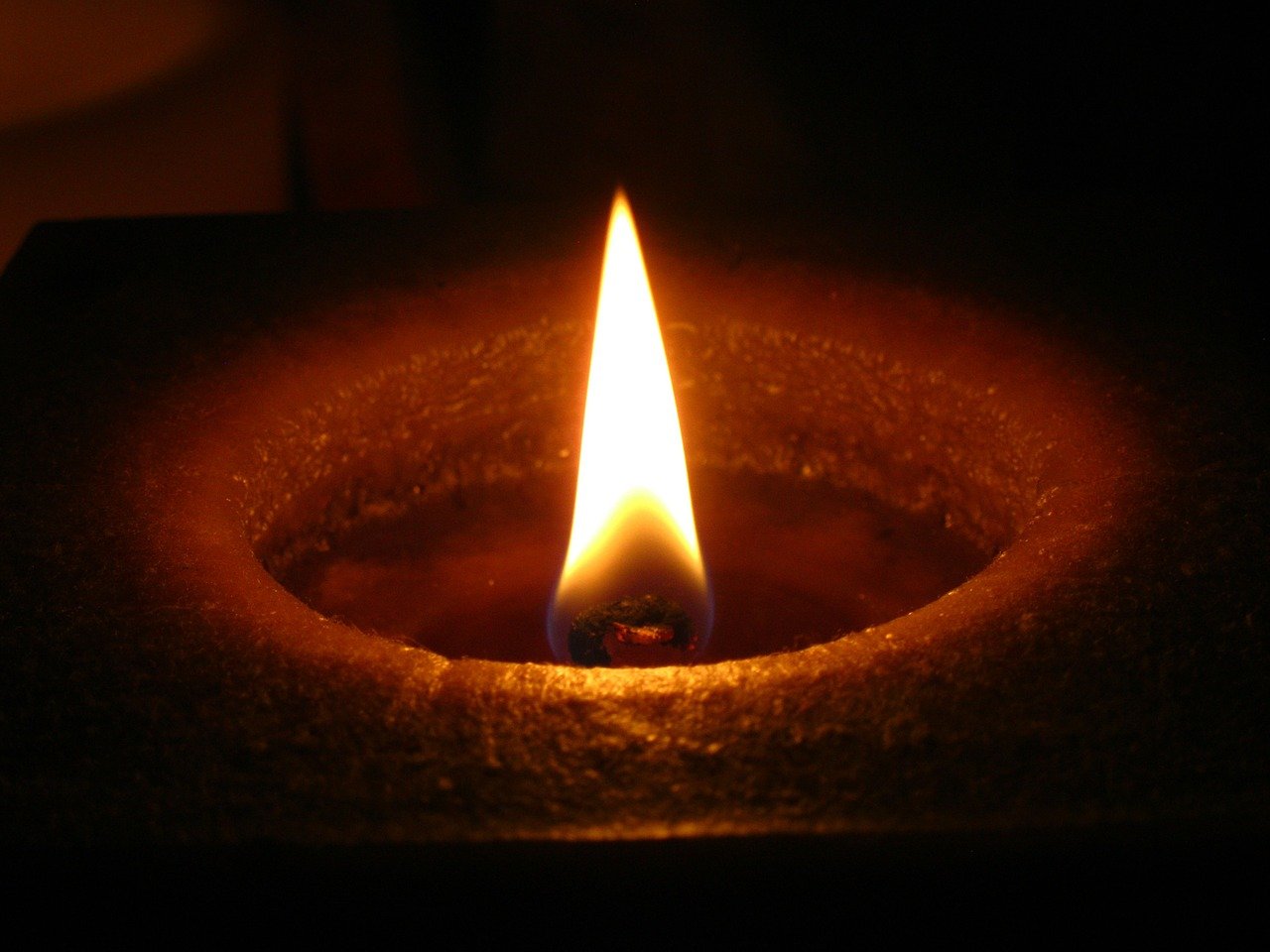 candle flame wax candle free photo